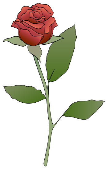 Red Rose clipart Clip red leaves rose rose