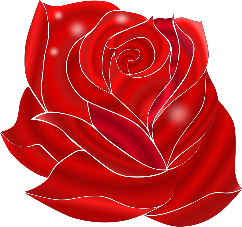Beautiful clipart red rose Clip Use Rose Art Domain
