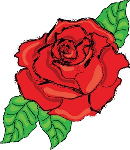 Red Rose clipart bloom #3