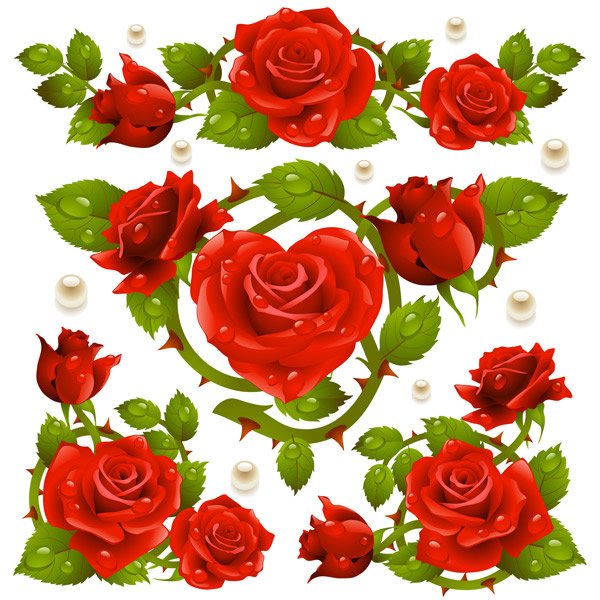 Red Rose clipart bright red #9