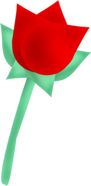 Red Rose clipart bright red #12