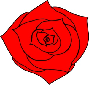 Red Rose clipart bright red #5