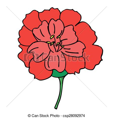 Red Rose clipart bright red #11