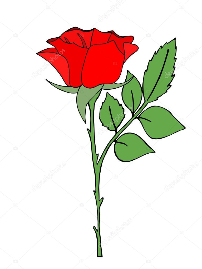 Red Rose clipart bright red #6