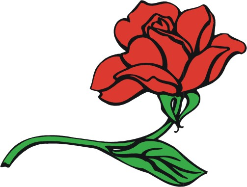 Red Rose clipart cartoon #12