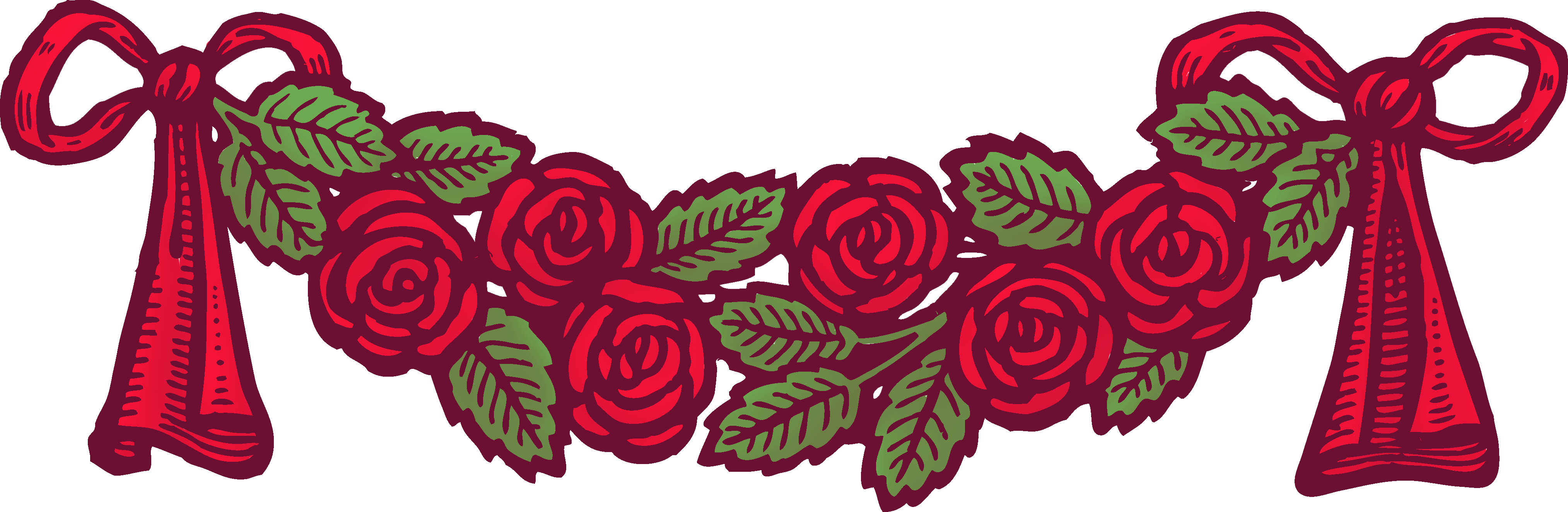 Red Rose clipart decorative #5