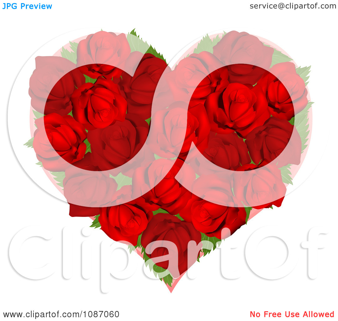 Red Rose clipart flower heart #14