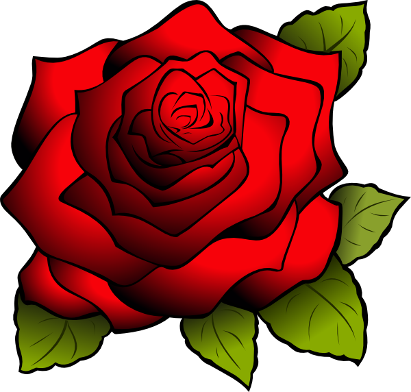 Red Rose clipart logo #14