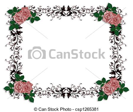 Red Rose clipart rose border #8