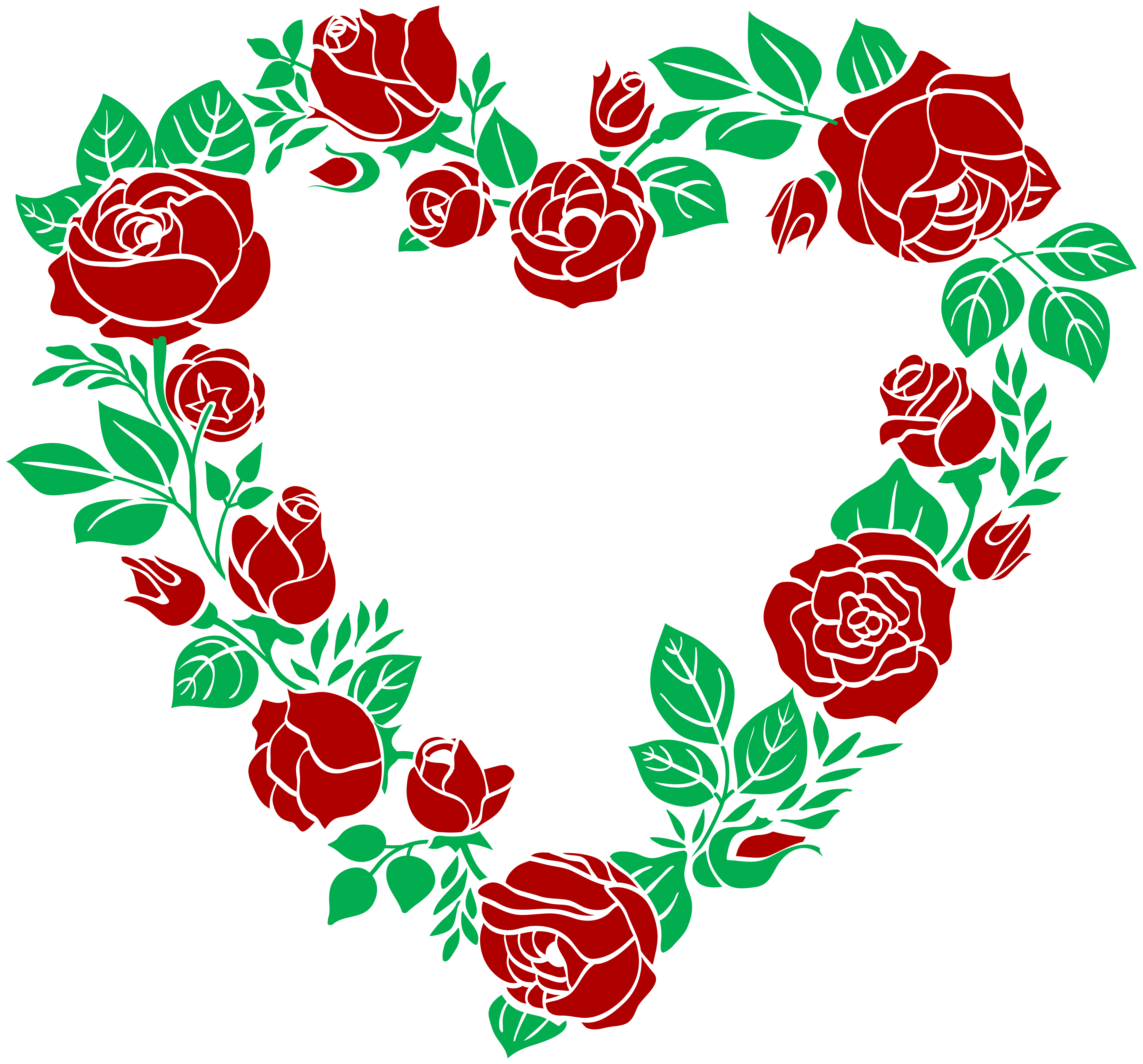 Red Rose clipart rose border #14