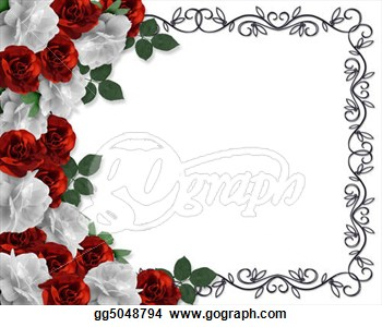 Red Rose clipart rose border #11