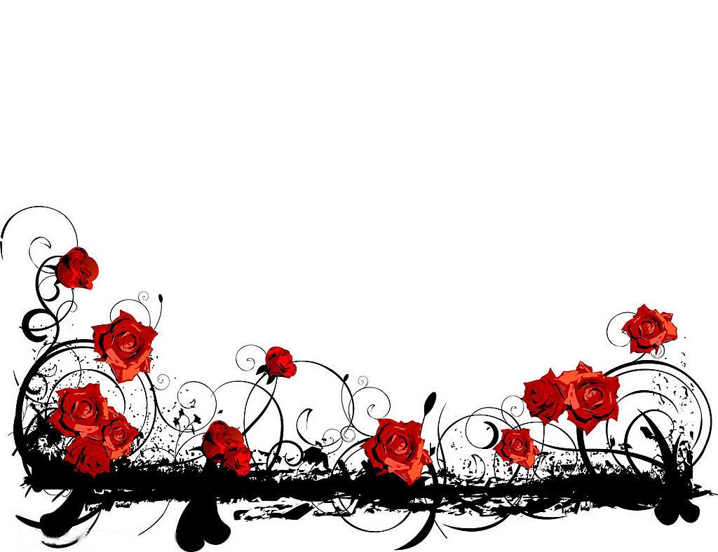 Red Rose clipart rose border #10