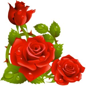 Red Rose clipart rose border #13
