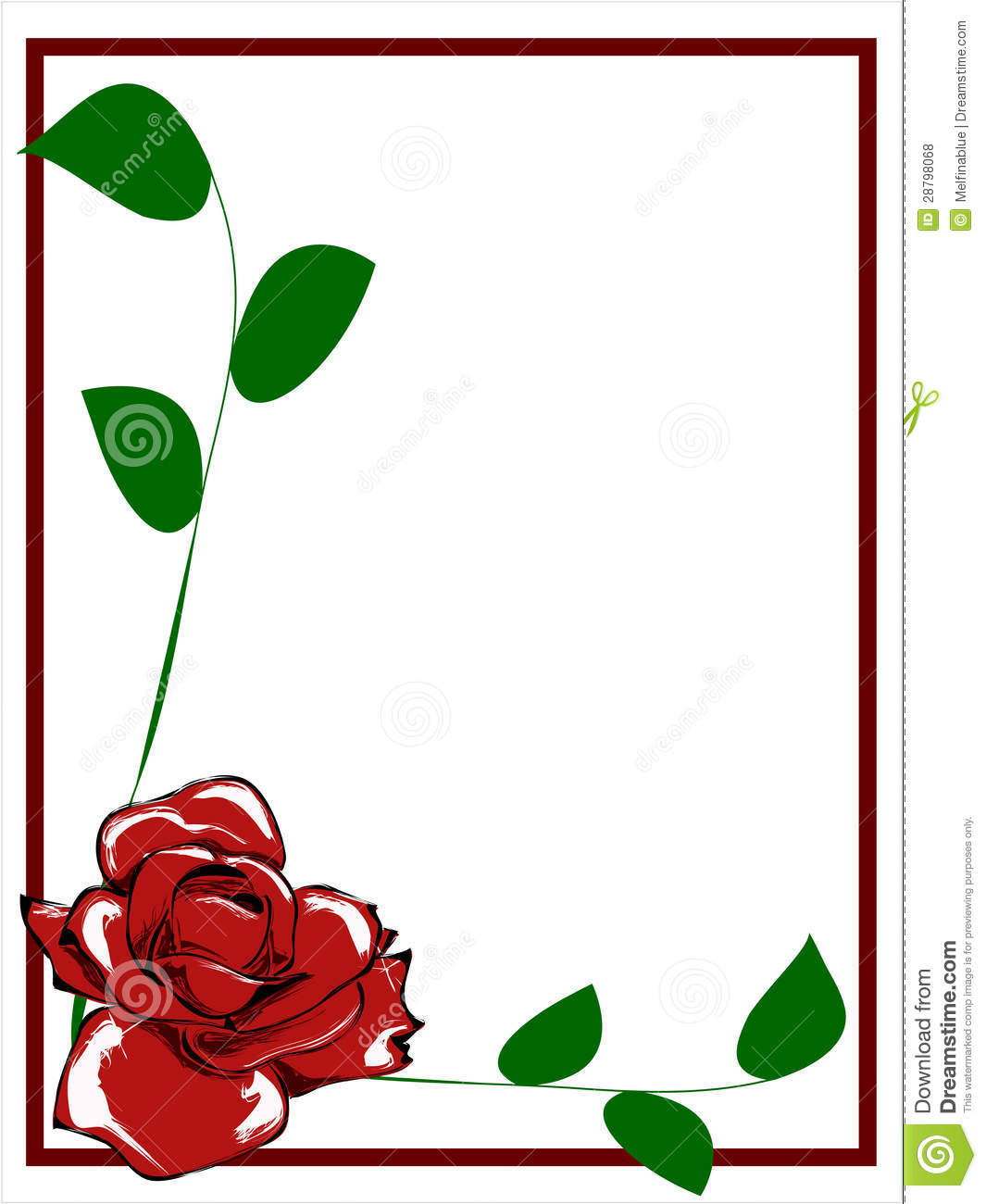 Red Rose clipart rose border #12