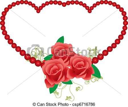 Red Rose clipart rose frame #14