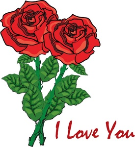 Rose clipart valentine rose #7