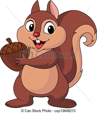 Red Squirrel clipart Stock Squirrel nut illustration and