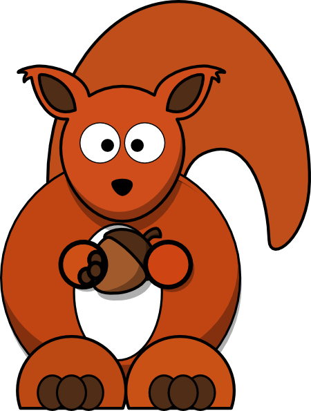 Red Squirrel clipart Art Clker Red Clip clip