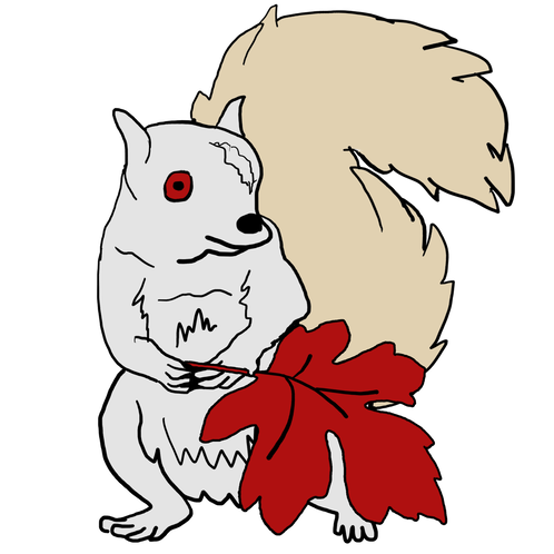 Red Squirrel clipart snow white #8