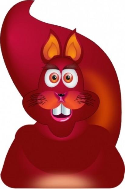 Red Squirrel clipart tupai #15