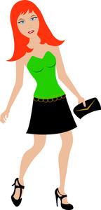 Redhead clipart long hair Image: Young Attractive Redhead the