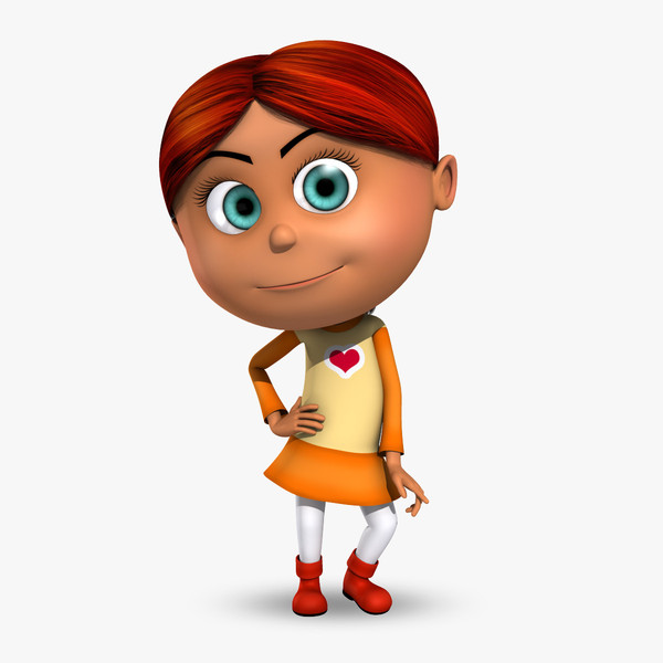 Redhead clipart animated Redhead for kid cartoon Posters