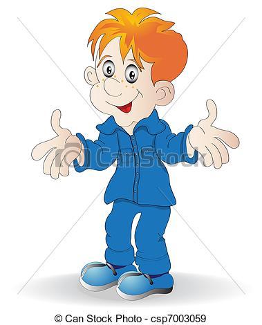 Redhead clipart boy Vector boy of merry boy