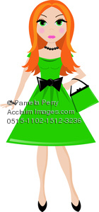 Redhead clipart cute Of Party Cute Dress Image