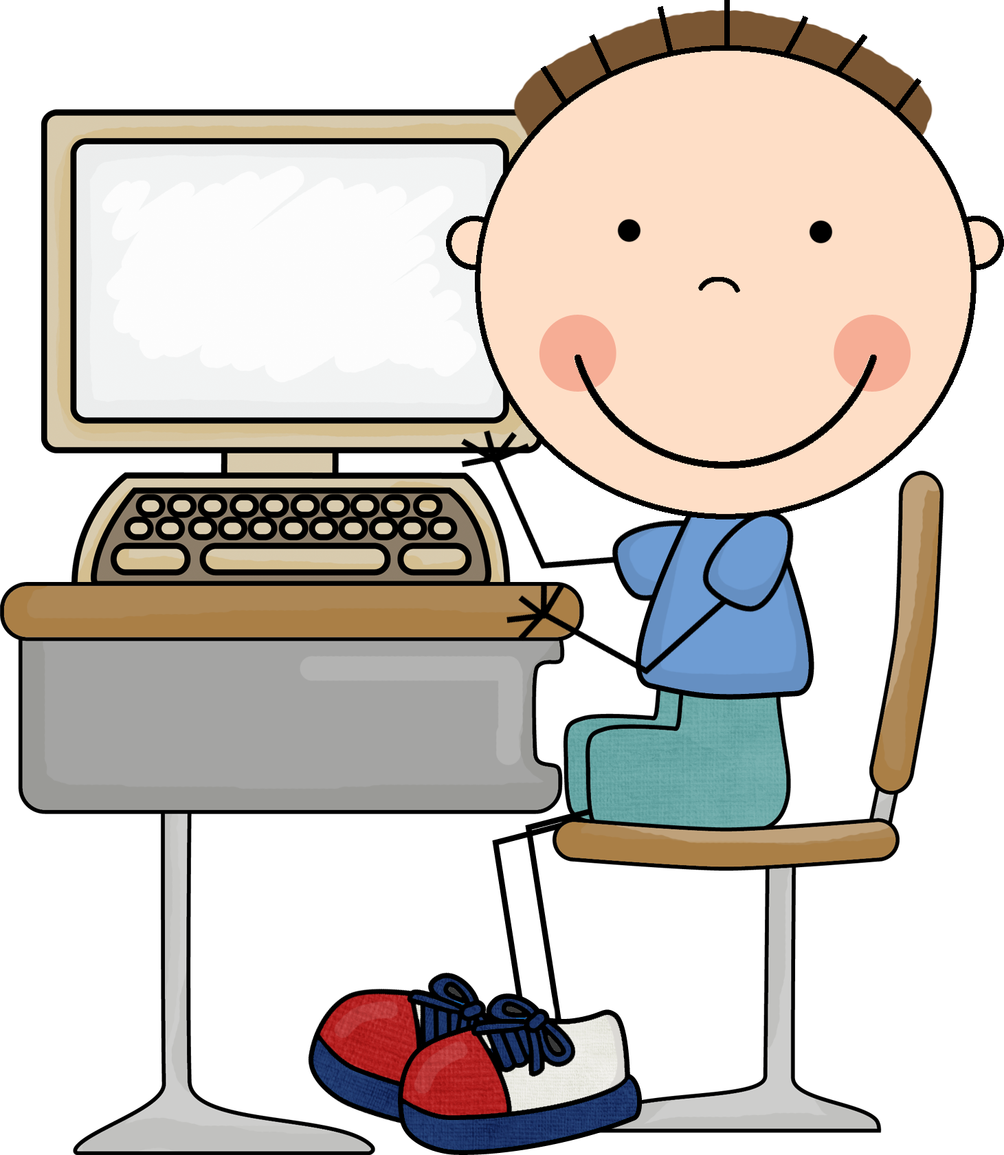 Boy clipart computer Clipart http://www computer arts/1726/scrappin kids