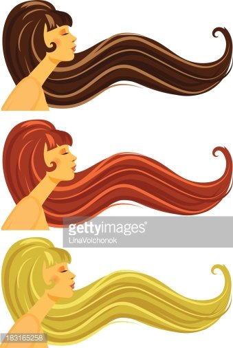 Redhead clipart long hair Blond red Clipart redhead Red