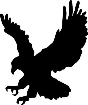 Bird Of Prey clipart swooping Eagle on Silhouette Hawk silhouette
