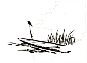 Reed clipart black and white And Clker Art And Reeds