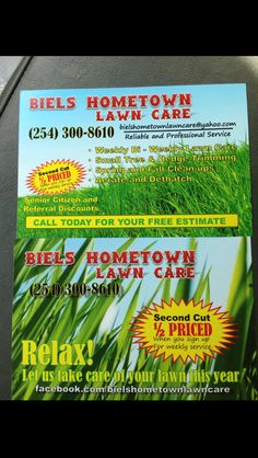 Reed clipart lawn care And Care Flyer Lawn two