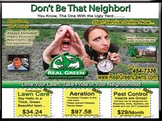 Reed clipart lawn care Care Templates Lawn Flyer