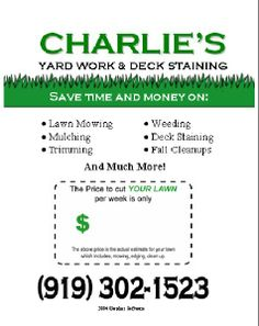 Reed clipart lawn maintenance I reed Flyer  Advertisement