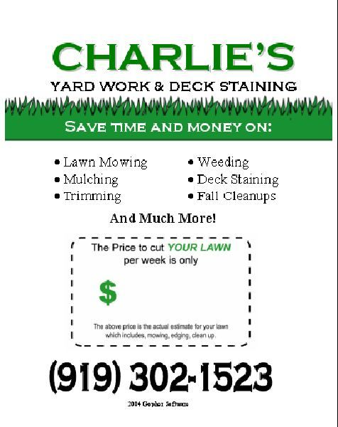 Reed clipart lawn maintenance I reed Flyer on Ideas