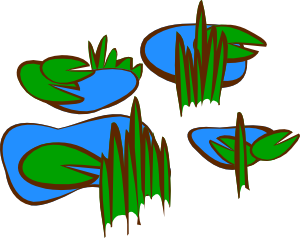 Reed clipart pond plant Free at online Clker Pond