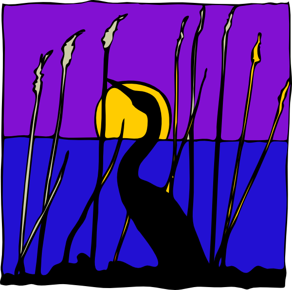 Reed clipart pond scene #3
