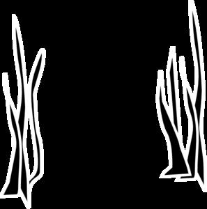 Sea Grass clipart black and white #1