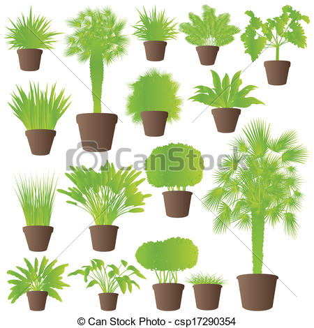 Reed clipart tree grass Vector tree grass bushes reed