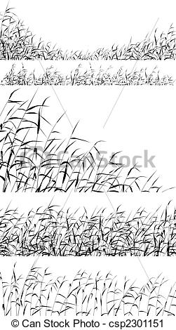 Reed clipart vector Editable of Clip Reed fringes