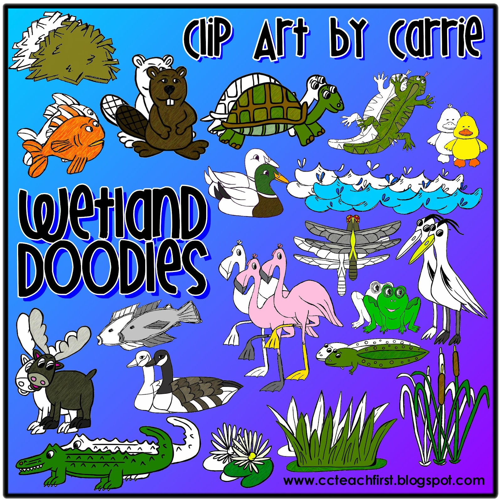 Reed clipart wetland On  Habitat by Teaching