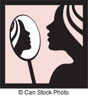 Mirror clipart personal reflection #1