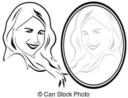 Reflection clipart black and white #3