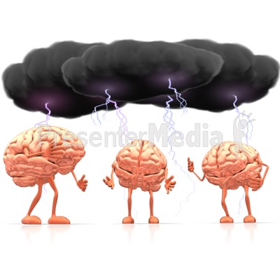Reflection clipart brain storm And PowerPoint Signs Clip Clipart