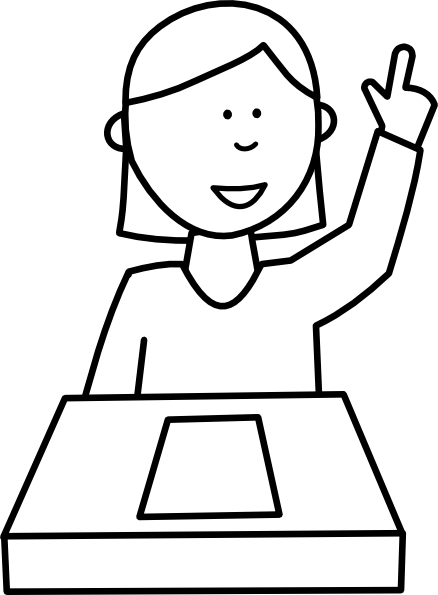 Reflection clipart kid question Girl Question vector clipart art