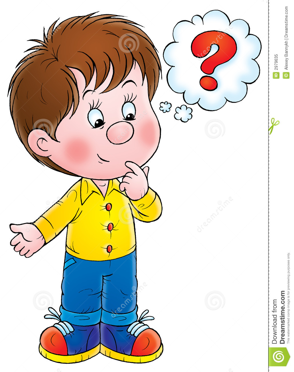 Reflection clipart kid question #12