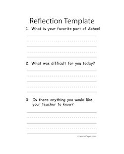 Reflection clipart lesson plan #10