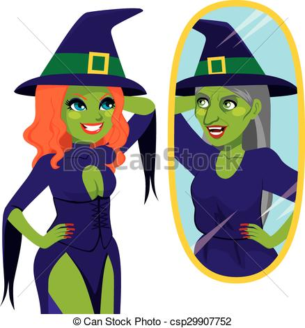 Witch clipart hideous Witch csp29907752 Witch Reflection of