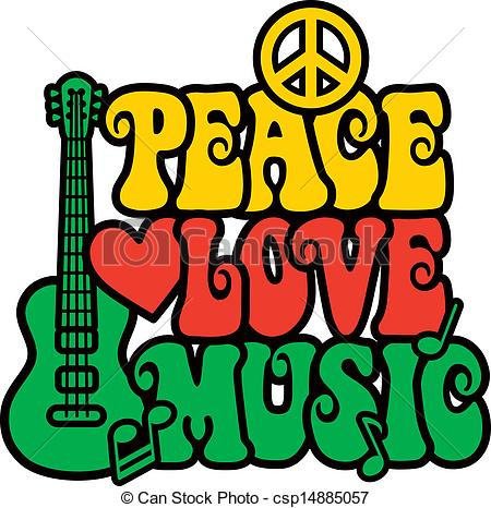 Reggae clipart Of Love design Retro Reggae